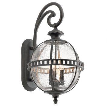 Halleron  Lampa zewnętrzna – klasyczny – kolor transparentny, Szary