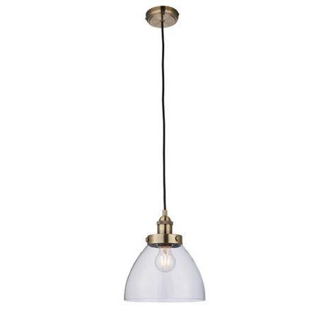 Hansen  Lampa wisząca – industrialny – kolor mosiądz, transparentny, złoty