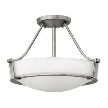 Hathaway  Lampa sufitowa – klasyczny – kolor biały, srebrny