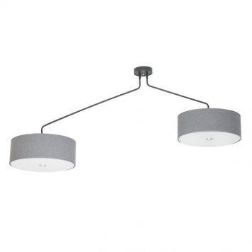 Hawk   Lampa sufitowa – Z abażurem – kolor Szary