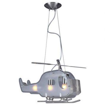 Helikopter Lampa wisząca – Styl nowoczesny – kolor srebrny