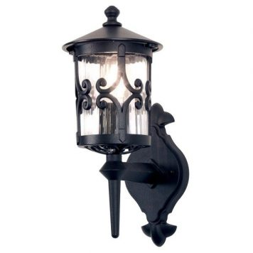 Hereford  Lampa zewnętrzna – klasyczny – kolor transparentny, Czarny