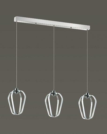 Hikone  Lampa wisząca – Lampy i oświetlenie LED – kolor srebrny