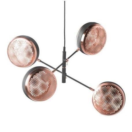 Hive Lampa wisząca – industrialny – kolor miedź, Czarny