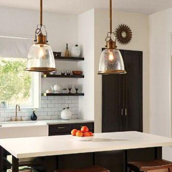 Hobson  Lampa wisząca – szklane – kolor mosiądz, transparentny