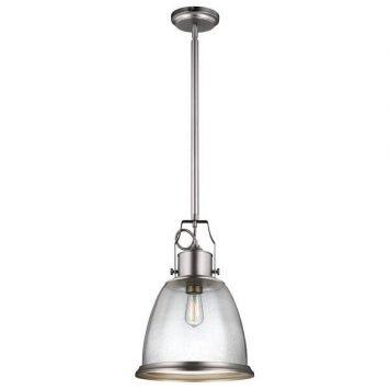 Hobson Lampa wisząca – szklane – kolor srebrny, transparentny