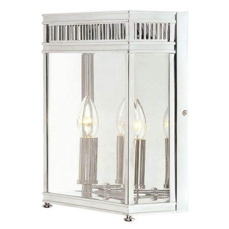 Holborn Lampa klasyczna – szklane – kolor srebrny, transparentny
