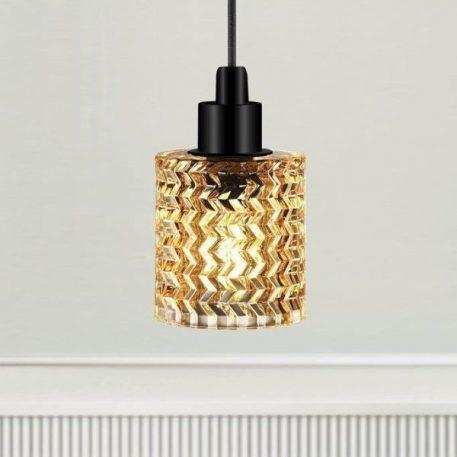 Hollywood  Lampa wisząca – szklane – kolor beżowy, transparentny