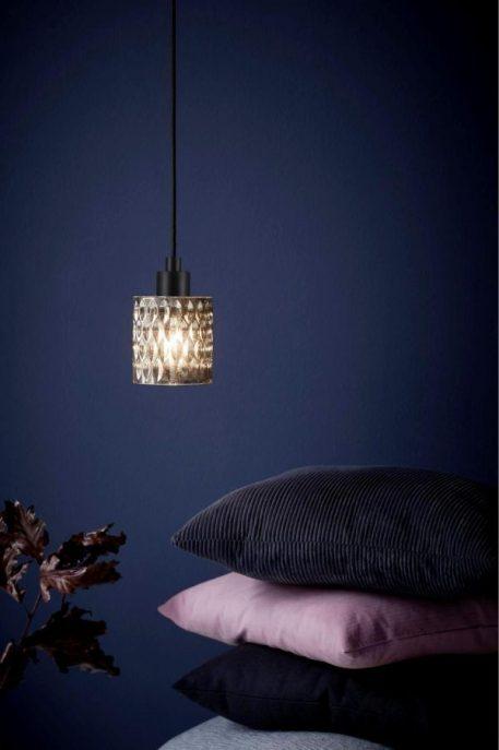 Hollywood Lampa wisząca – szklane – kolor transparentny, Szary