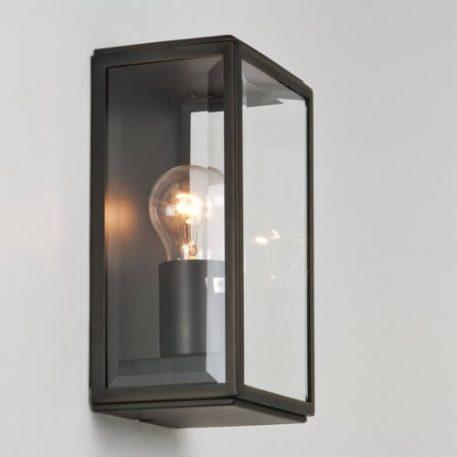 Homefield Lampa industrialna – szklane – kolor brązowy, transparentny
