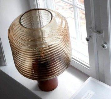 Honey  Lampa skandynawska – szklane – kolor beżowy