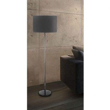 Hotel  Lampa podłogowa – Z abażurem – kolor Szary