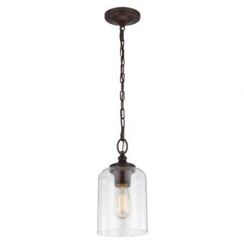 Hounslow  Lampa wisząca – klasyczny – kolor brązowy, transparentny