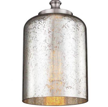 Hounslow Lampa wisząca – szklane – kolor srebrny