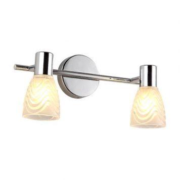 Hugo Lampa nowoczesna – szklane – kolor srebrny