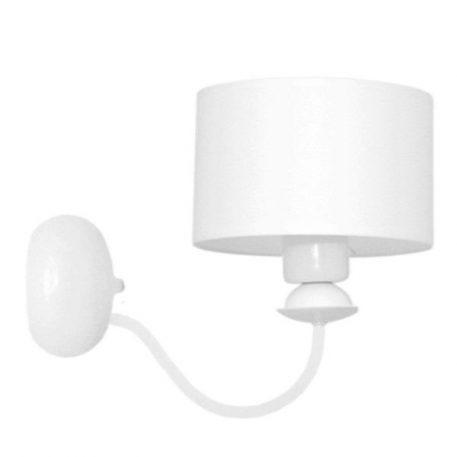 Ibis Lampa modern classic – Z abażurem – kolor biały