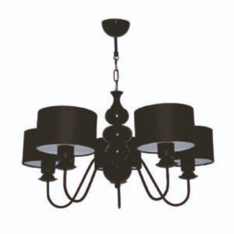 Ibis  Żyrandol – Z abażurem – kolor Czarny