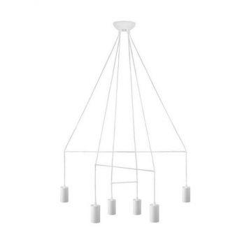 Imbria  Żyrandol – Styl nowoczesny – kolor biały