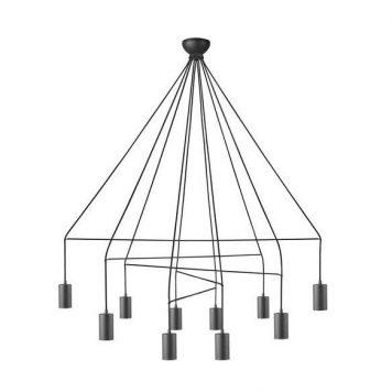 Imbria  Żyrandol – Styl nowoczesny – kolor Czarny