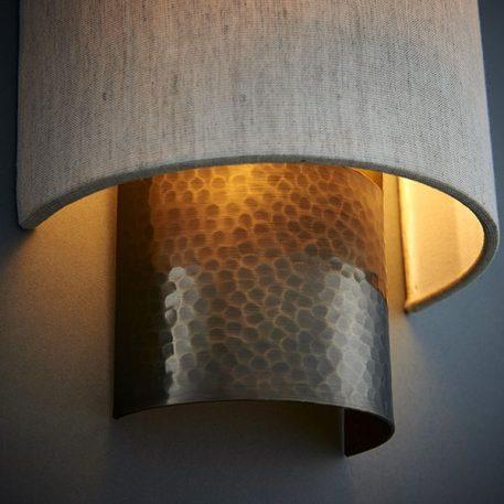 Indara Lampa klasyczna – Z abażurem – kolor beżowy, brązowy