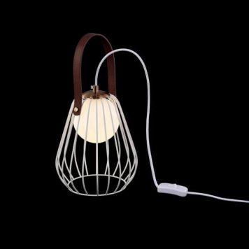 Indiana Lampa stołowa – Styl skandynawski – kolor biały