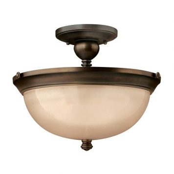 Industrial  Lampa sufitowa – szklane – kolor beżowy, brązowy