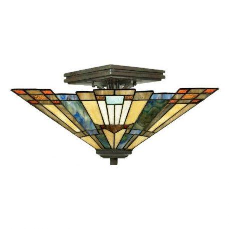 Inglenook  Lampa sufitowa – Witrażowe – kolor brązowy, pomarańczowy