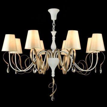 Intreccio  Żyrandol – Styl modern classic – kolor biały, złoty