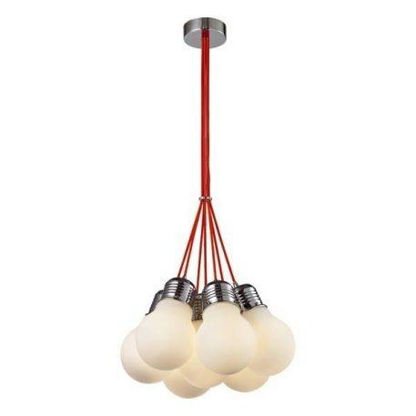 Irys Lampa wisząca – szklane – kolor biały, Czerwony