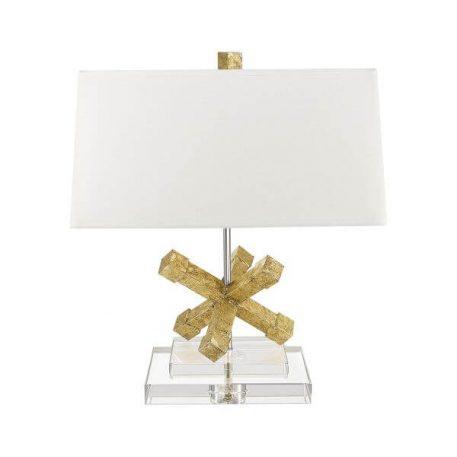 Jack Lampa nowoczesna – Z abażurem – kolor beżowy, złoty