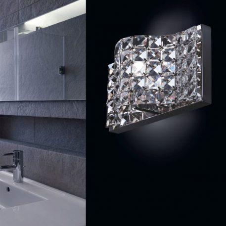 Jasmine  Lampa glamour – Styl glamour – kolor srebrny, transparentny