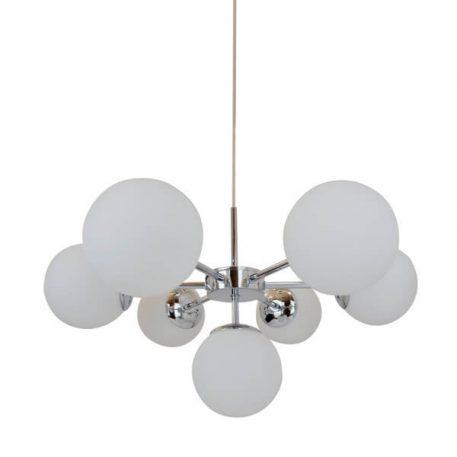 Jena Lampa wisząca – Styl nowoczesny – kolor biały, srebrny