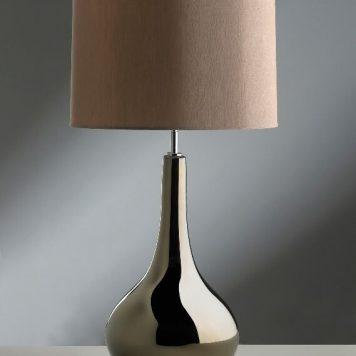 Job  Lampa nowoczesna – Z abażurem – kolor brązowy, srebrny