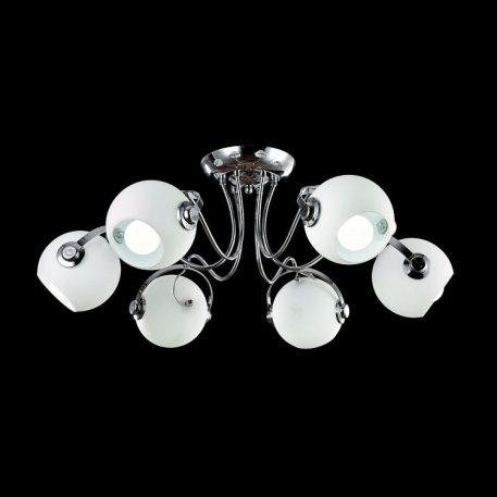 Joel  Lampa sufitowa – szklane – kolor biały, srebrny