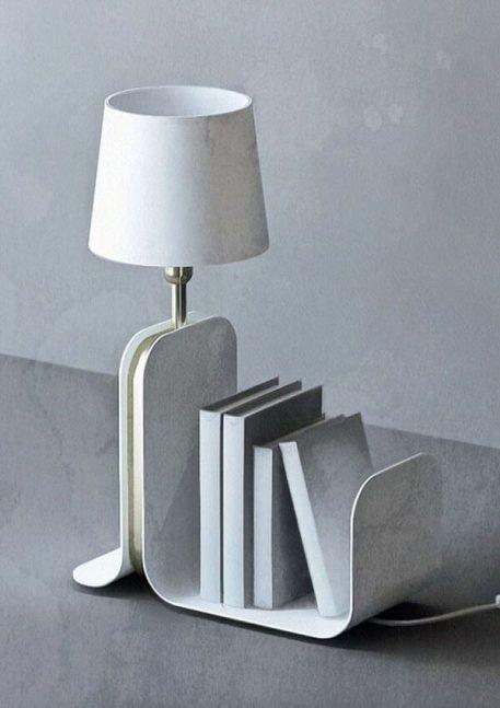 Karl Lampa stołowa – Styl skandynawski – kolor biały