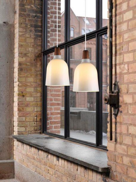 Karma Lampa wisząca – Drewniane – kolor biały, brązowy