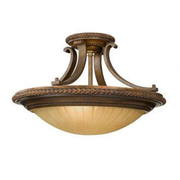 Kelham  Lampa sufitowa – szklane – kolor beżowy, brązowy
