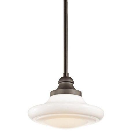Keller Lampa wisząca – klasyczny – kolor biały, brązowy