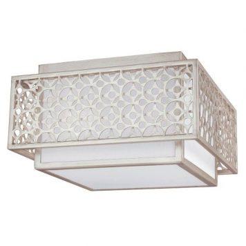 Kenney  Lampa sufitowa – kolor biały, srebrny
