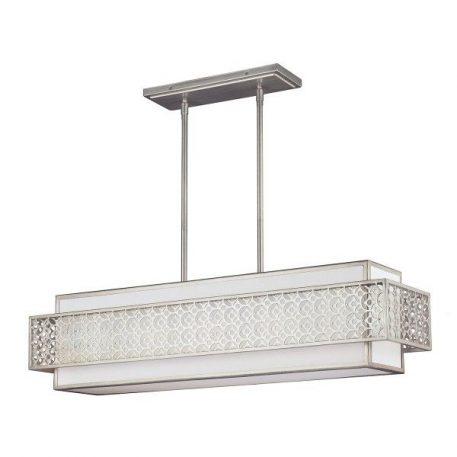 Kenney  Lampa wisząca – klasyczny – kolor biały, srebrny
