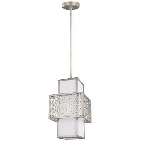 Kenney Lampa wisząca – Styl nowoczesny – kolor biały, srebrny