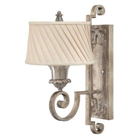 Kingsley Lampa klasyczna – Z abażurem – kolor beżowy, srebrny