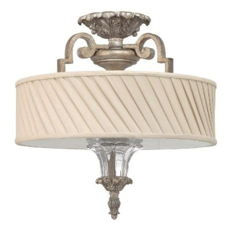 Kingsley Lampa sufitowa – klasyczny – kolor beżowy, srebrny