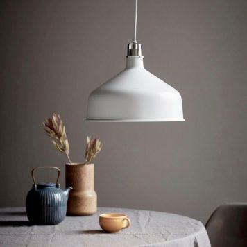 Kingston  Lampa wisząca – industrialny – kolor biały