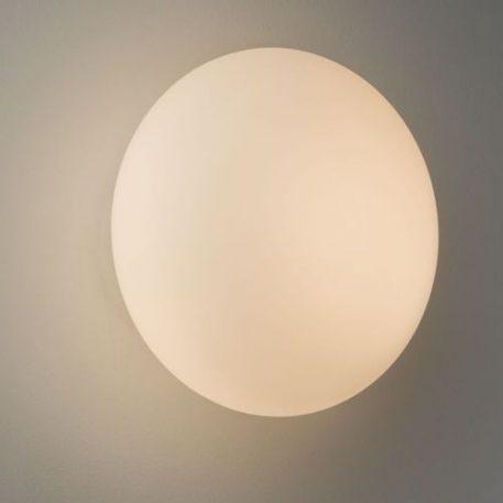 Kinkiet - białe szkło - Astro