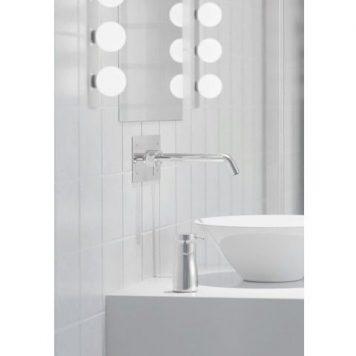 Brazos  Kinkiet – Styl nowoczesny – kolor biały, srebrny