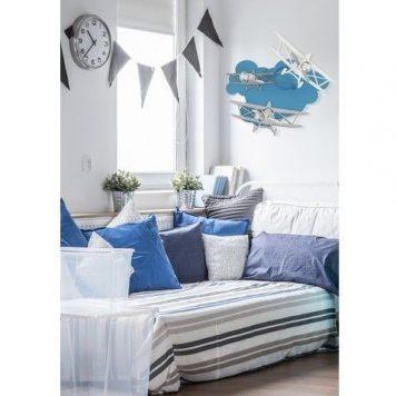 Plane  Kinkiet – kolor Niebieski, Szary