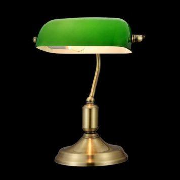 Kiwi  Lampa stołowa – klasyczny – kolor mosiądz, złoty, Zielony