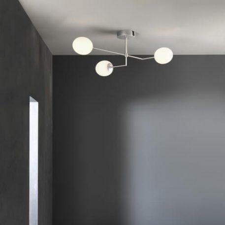 Kiwi Lampa sufitowa – Styl nowoczesny – kolor biały, srebrny