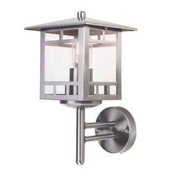 Kolne  Lampa zewnętrzna – szklane – kolor srebrny, transparentny